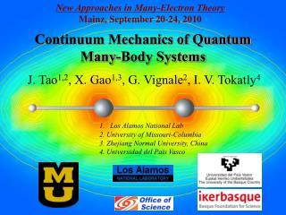 Continuum Mechanics of Quantum Many-Body Systems