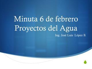 Minuta 6 de febrero Proyectos del Agua