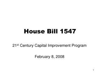 House Bill 1547