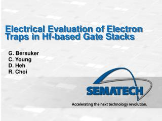 Electrical Evaluation of Electron Traps in Hf-based Gate Stacks