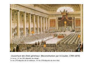 L�ouverture des Etats g�n�raux   (Reconstitution par  A.Couder , 1789-1870)