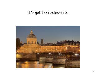 Projet Pont-des-arts
