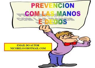 PREVENCION COM LAS MANOS E DEDOS