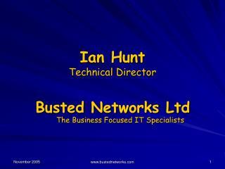 Ian Hunt Technical Director