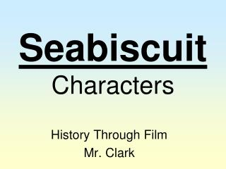 Seabiscuit Characters