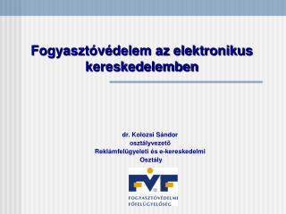 Fogyasztóvédelem az elektronikus kereskedelemben