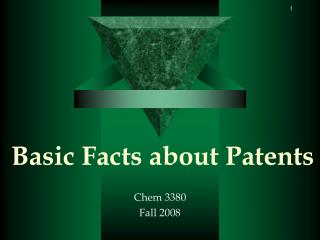 Basic Facts about Patents