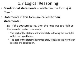 1.7 Logical Reasoning