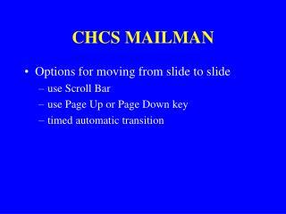 CHCS MAILMAN