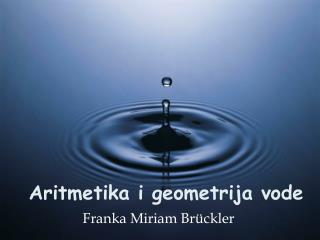 Aritmetika i geometrija vode
