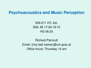 Psychoacoustics and Music Perception