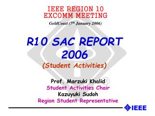 R10 SAC REPORT  2006 (Student Activities)