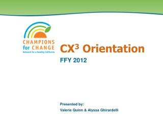 CX 3  Orientation