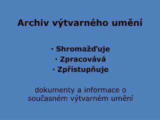 Archiv výtvarného umění