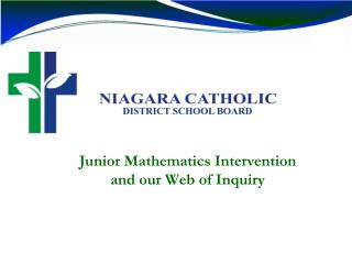 Junior Mathematics Intervention  and our Web of Inquiry