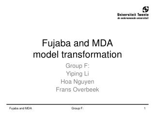 Fujaba and MDA model transformation