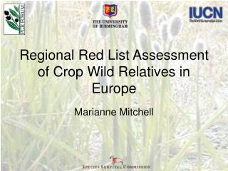 Regional Red List Assessment of Crop Wild Relatives in Europe