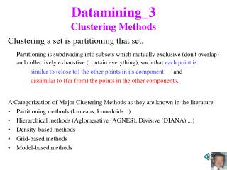 Datamining_3 Clustering Methods