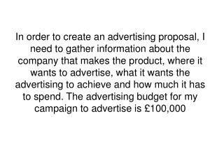 What Do You Want Your Adverts To Achieve?
