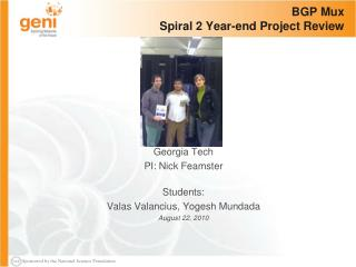 BGP  Mux Spiral 2 Year-end Project Review