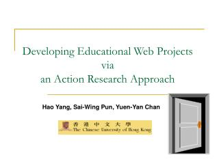 Developing Educational Web Projects via  an Action Research Approach