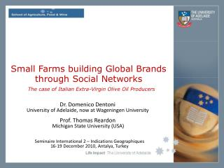 Small Farms building Global Brands  through Social Networks