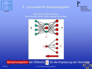 6.  Lernverfahren Backpropagation