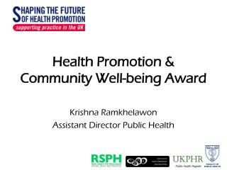 Health Promotion & Community Well-being Award