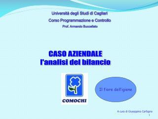Università degli Studi di Cagliari            Corso Programmazione e Controllo