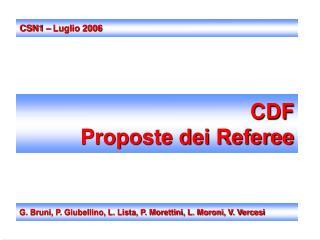 CDF Proposte dei Referee