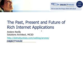 The Past, Present and Future of Rich Internet Applications