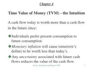 Time Value of Money (TVM) - the Intuition