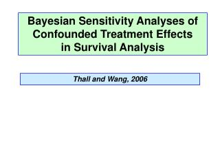 Bayesian Sensitivity Analyses of Confounded Treatment Effects in Survival Analysis