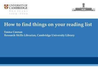 How to find things on your reading list