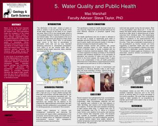 5.  Water Quality and Public Health