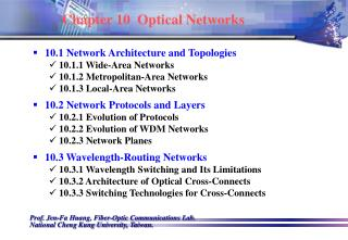 Chapter 10  Optical Networks
