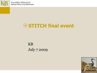 STITCH final event