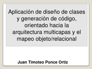 Juan Timoteo Ponce Ortiz