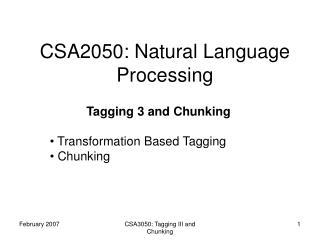 CSA2050: Natural Language Processing