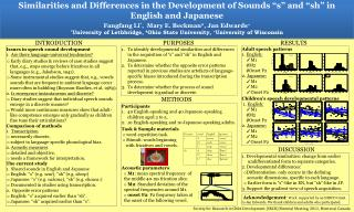 Issues in speech sound development Are there language-universal tendencies?