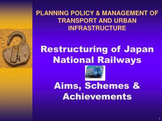 Restructuring of Japan National Railways Aims, Schemes & Achievements