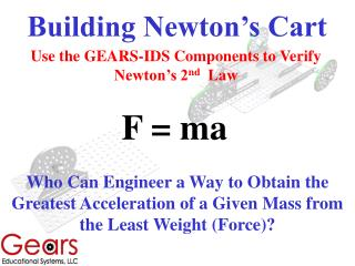 Building Newton's Cart