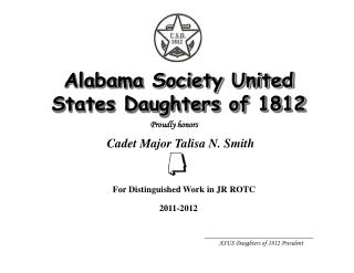 Alabama Society United States Daughters of 1812