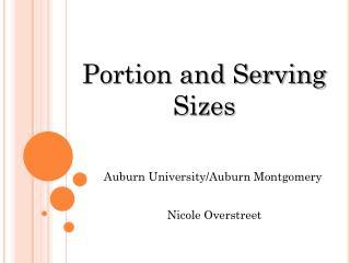 Auburn University/Auburn Montgomery  Nicole Overstreet
