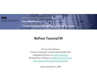 RePast Tutorial III