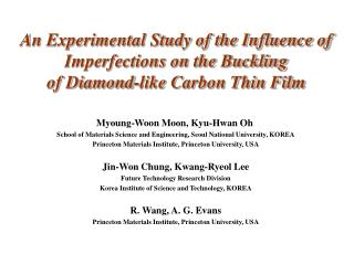 An Experimental Study of the Influence of Imperfections on the Buckling