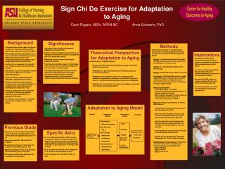 Sign Chi Do Exercise for Adaptation to Aging