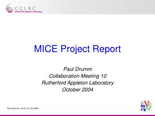 MICE Project Report