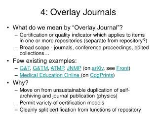 4: Overlay Journals