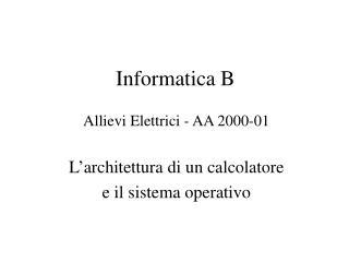 Informatica B